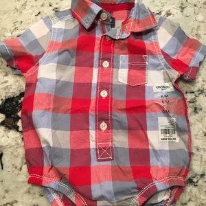 Boys plaid short sleeve shirt